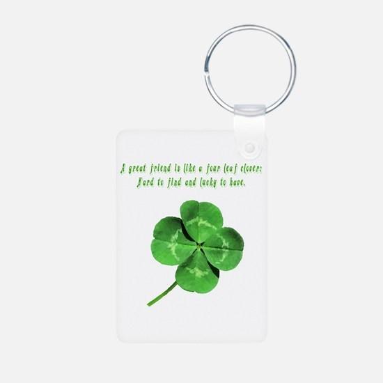 Unique Ireland Aluminum Photo Keychain