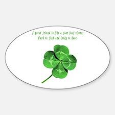 Cute Scottish st patrick Sticker (Oval)