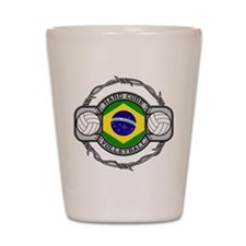 Brazil Volleyball Shot Glass