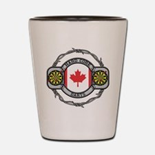 Canada Darts Shot Glass