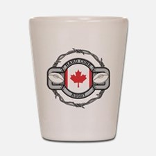 Canada Rugby Shot Glass