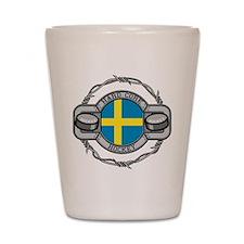 Sweden Hockey Shot Glass