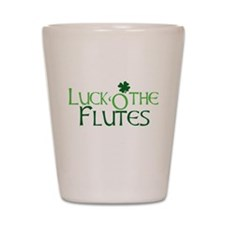 Luck 'O the Flutes Shot Glass