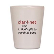 Clarinet Definition Shot Glass