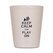 Keep Calm Horn Shot Glass