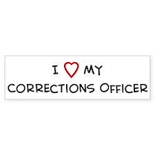 I Love Corrections Officer Bumper Bumper Sticker