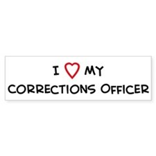 I Love Corrections Officer Bumper Car Sticker