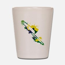 Paint Splat Trombone Shot Glass