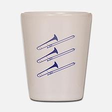 Blue Trombones Shot Glass