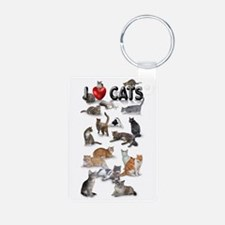 "Keychains ""I Love Cats"""