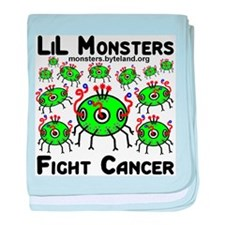 LiL Monsters Fight Cancer baby blanket