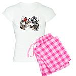 Women's Light Pajamas I Love Cats