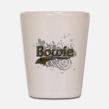 Bowie Tartan Grunge Shot Glass