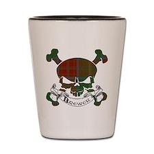 Brewer Tartan Skull Shot Glass