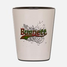 Burnett Tartan Grunge Shot Glass