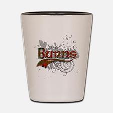 Burns Tartan Grunge Shot Glass