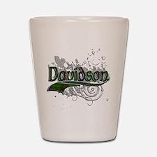 Davidson Tartan Grunge Shot Glass