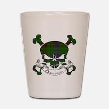 Davidson Tartan Skull Shot Glass