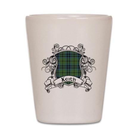 Keith Tartan Shield Shot Glass
