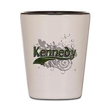 Kennedy Tartan Grunge Shot Glass