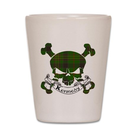 Kennedy Tartan Skull Shot Glass