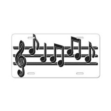 Musical Notes Aluminum License Plate