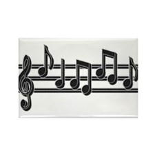 Musical Notes Rectangle Magnet