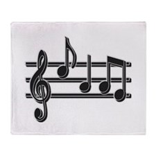 Musical Notes Throw Blanket