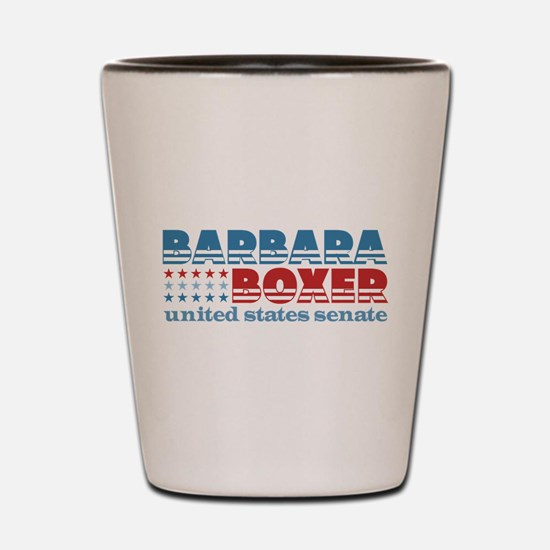 Boxer for Senator Shot Glass