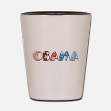 Starry 1920s Obama Shot Glass