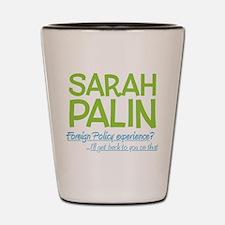 Inexperienced Palin Shot Glass