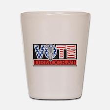 Vote Democrat Shot Glass