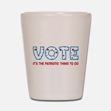 Patriotic Vote Shot Glass