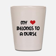 I Heart Nurses Shot Glass