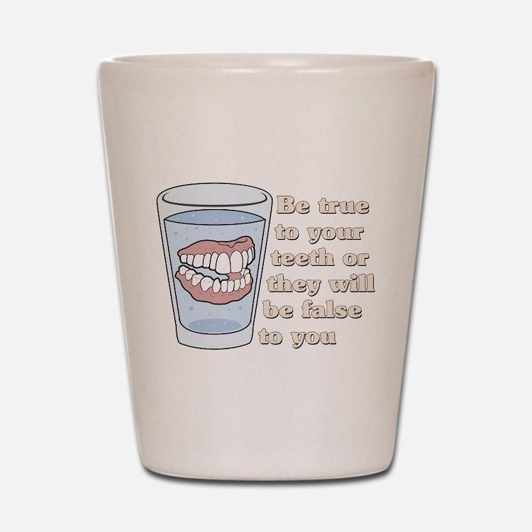 False Teeth Dentures Shot Glass