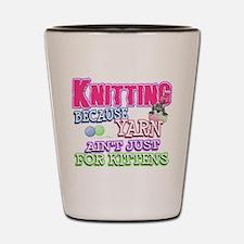 Knitting Kitten Shot Glass