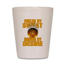 Basketball Fueled by Sweat Shot Glass