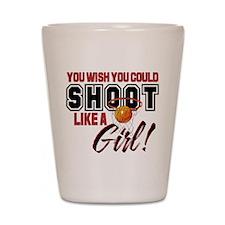 Basketball - Shoot Like a Girl Shot Glass