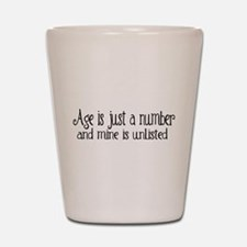 Age is Just a Number Shot Glass