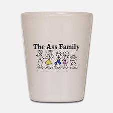 The Ass Family Shot Glass