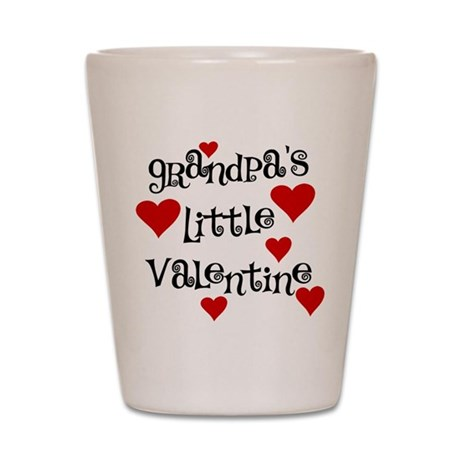 Grandpa's Little Valentine Shot Glass