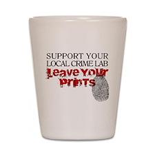 Crime Lab - Leave Your Prints Shot Glass