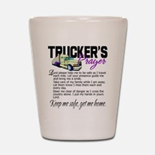 Trucker's Prayer Shot Glass