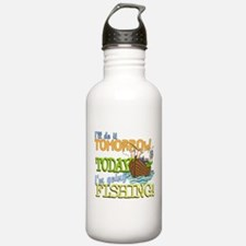 Today I'm Going Fishing Water Bottle