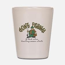 Gone Fishing - Hunting Season Shot Glass