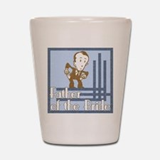 Deco Father of the Bride Shot Glass