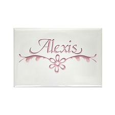 Alexis Floral Filagree Rectangle Magnet