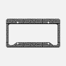 Celtic Knot Gray License Plate Holder