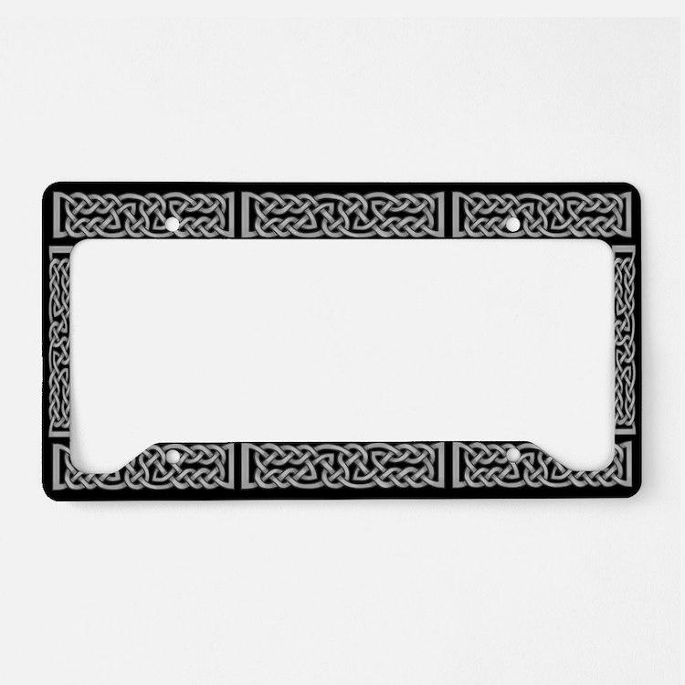 Celtic Knot Gray License Plate Holder