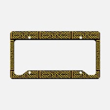 Celtic Knot Yellow License Plate Holder